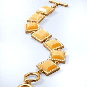 White House Black Market gold tone toggle bracelet